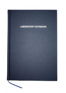 Laboratory Notebook with Buckram Cover
