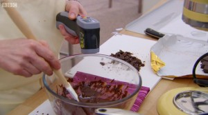 Infrared thermometer in the bake off