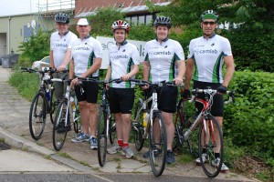 Camlab's Charity Cycle Team