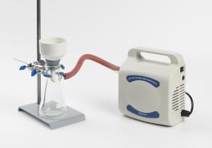 A complete vacuum filtration apparatus setup