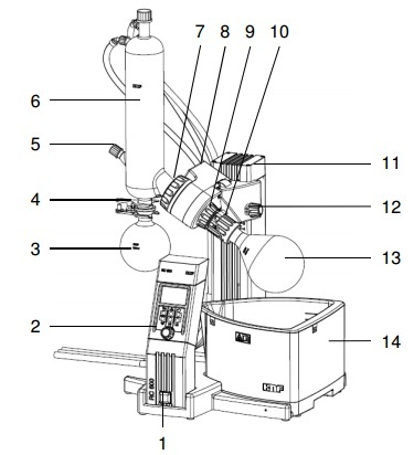 RC600 Rotary Evaporator Parts