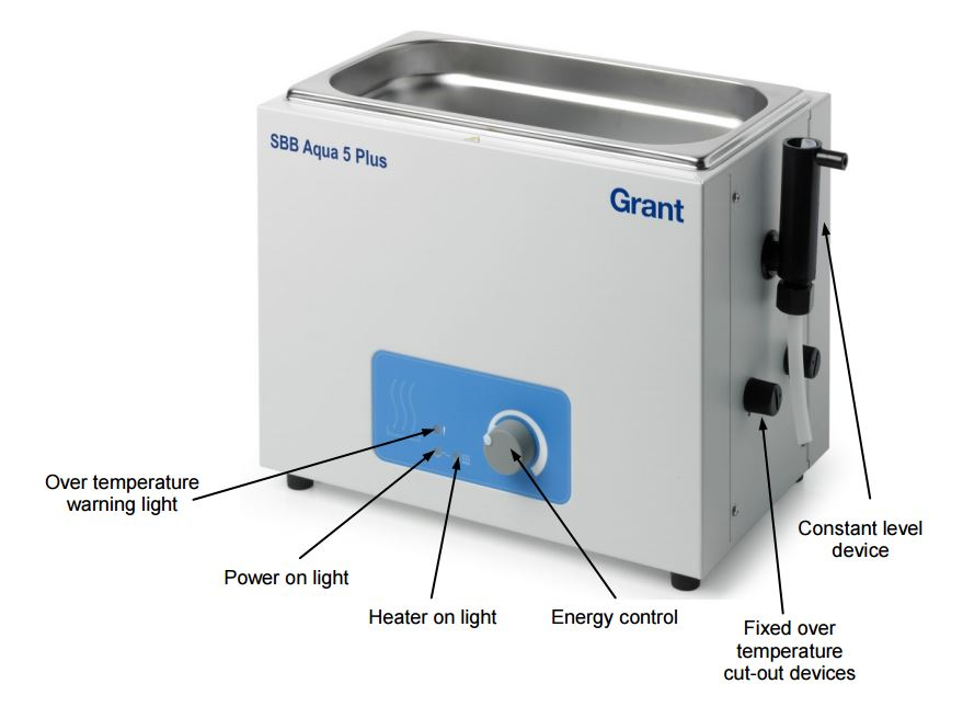 SBB aqua plus bath with constant level device to stop drying out