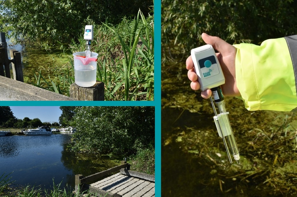 testing pH of river water