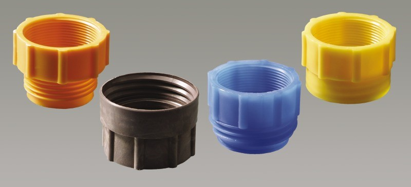 A range of thread adapters to fit Burkle pumps to varous containers - here is how to work out the container thread size